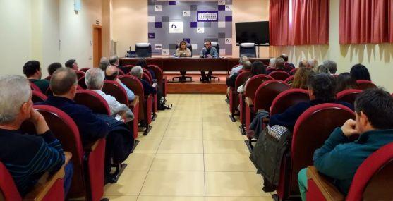 Una imagen este viernes de la reunión en el Palacio Provincial.