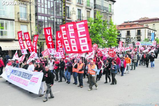 Manifestación del 1 de mayo. Soria Noticias.