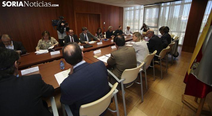 Imagen del Comité de Seguimiento del Plan Soria este martes. /SN