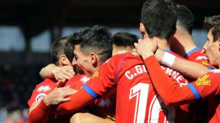 Gol del Numancia al Córdoba en Los Pajaritos (2-1). LaLiga.
