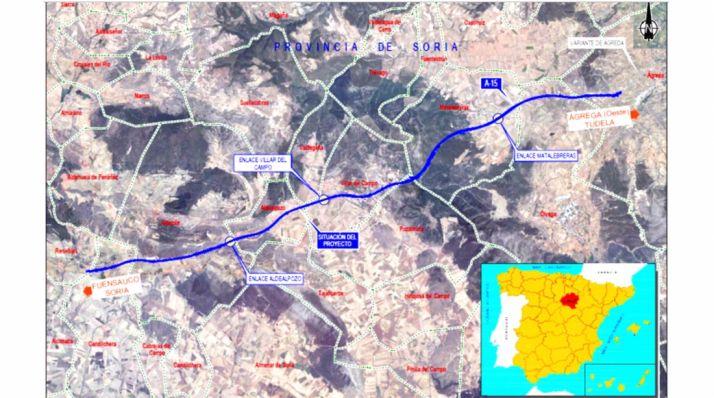 Imagen del trazado de la autovía entre ambos municipios.