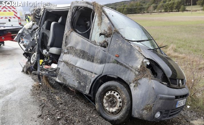 Estado de la furgoneta tras el siniestro. /SN