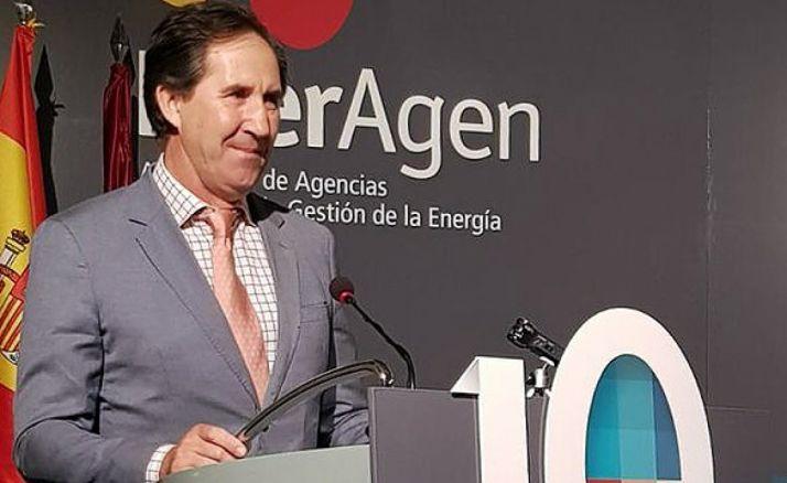 Alberto Gómez, consejero delegado de Rebi, durante la entrega del premio.