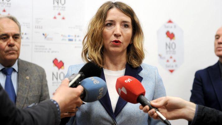 Alicia García, este martes en Palencia.
