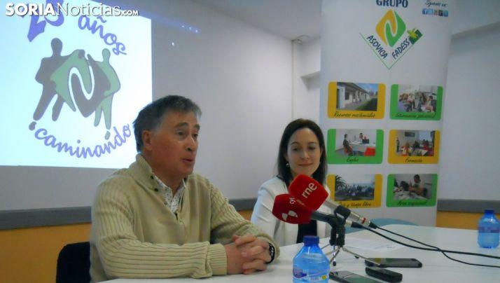Luis Antón y Natalia Briongos este miércoles en rueda de prensa. /SN