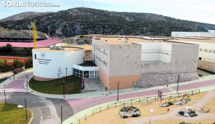 Vista aérea de las instalaciones del Campus de Soria. /SN