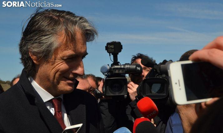 El ministro, en su visita a Soria el pasado 22 de marzo. /SN