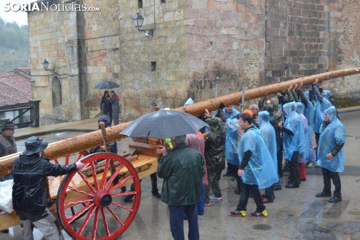 En Cabrejas el pasado año debido a la lluvia tuvieron que esperar al día después