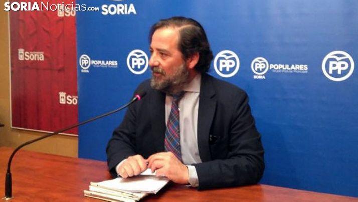 José Manuel Hernando este jueves en rueda informativa. /SN