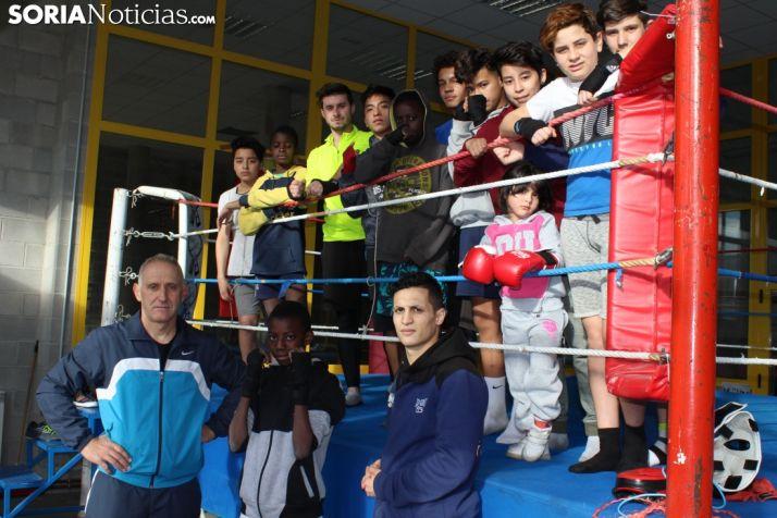 El Club Boxeo Numancia en la planta superior del CAEP. Bernat Díez.