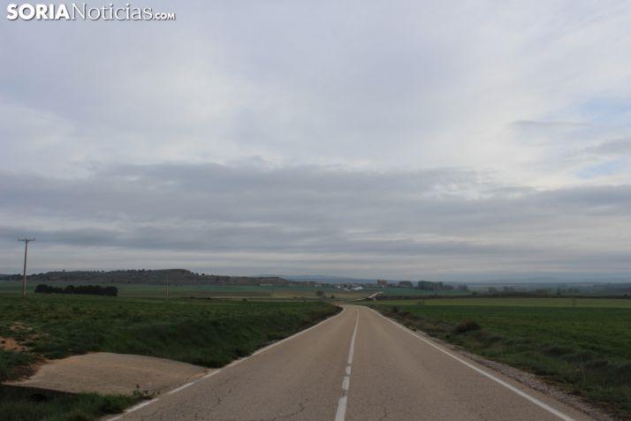 Cielo nuboso en Cubo de la Solana (Soria).