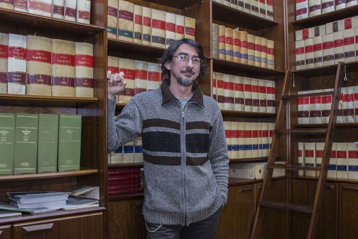 El artista Luis Alberto Romero.