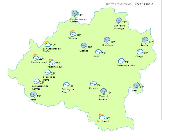 Foto 1 - Temperaturas agradables y precipitaciones vespertinas