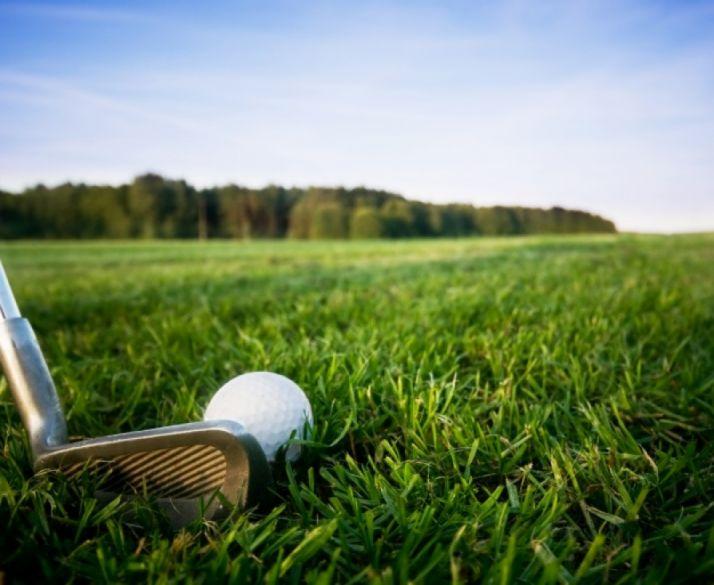 Imagen en un green de golf.