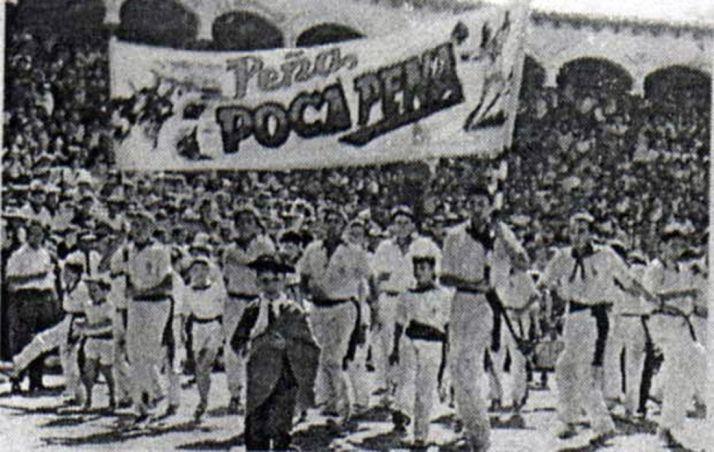 Peñistas de la Poca Pena en los años 50. /PPP