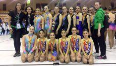 Las gimnastas sorianas con sus medallas. /CGD