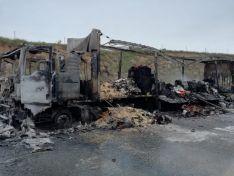 Arde un camión en Ágreda.