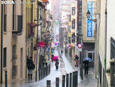 Chubascos en Soria, en la capital.