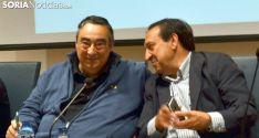 Gómez (izda.), junto al presidente nacional de la opa, Pedro Barato este jueves. /SN