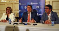 Yolanda de Gregorio, Alfonso Fernández Mañueco y Jesús Peregrina este miércoles. /SN