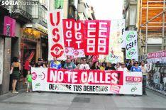 Manifestación por las calles de Soria.