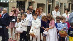 Una imagen de la procesión de este jueves en Ágreda. /Ainalb Alomar