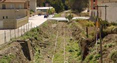 La línea férrea a su paso por el casco urbano de Ágreda. /GM