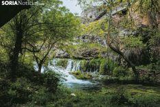 Río Talegones a su paso por la pequeña localidad de Lumías. Carmen de Vicente.