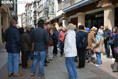 Grupo de turistas en El Collado.