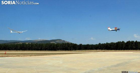 Vuelo sin motor en el aeródromo de Garray. /SN