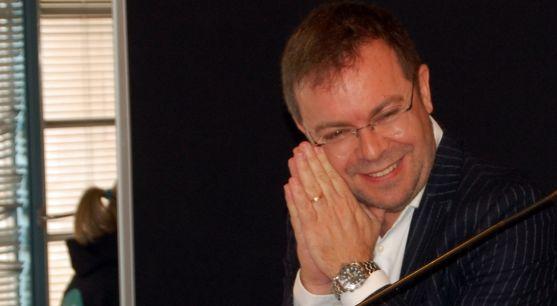 El escritor Javier Sierra, durante su presencia este sábado en La Audiencia.