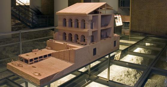 Una imagen del museo del Puerto fluvial de Zaragoza.