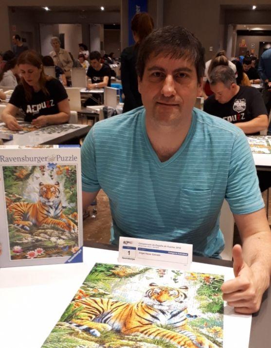Ángel Heras, tercero en el Nacional de Puzzles.