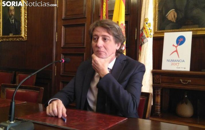 Carlos Martínez durante la rueda de prensa.