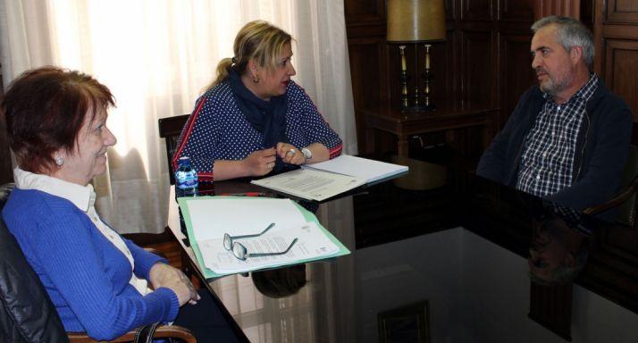 Fca. Delgado, Yolanda de Gregorio y José Manuel Lallana.