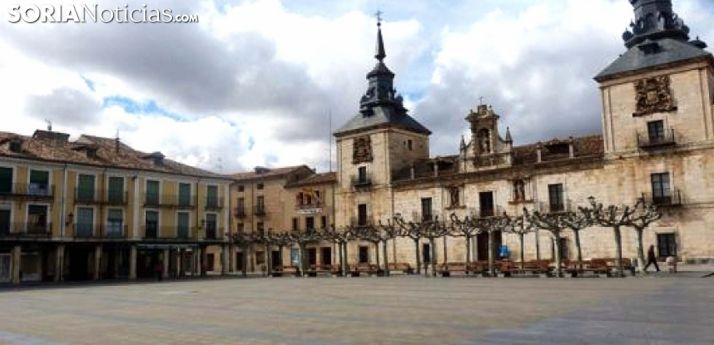 Una imagen de la plaza Mayor burgense. /SN