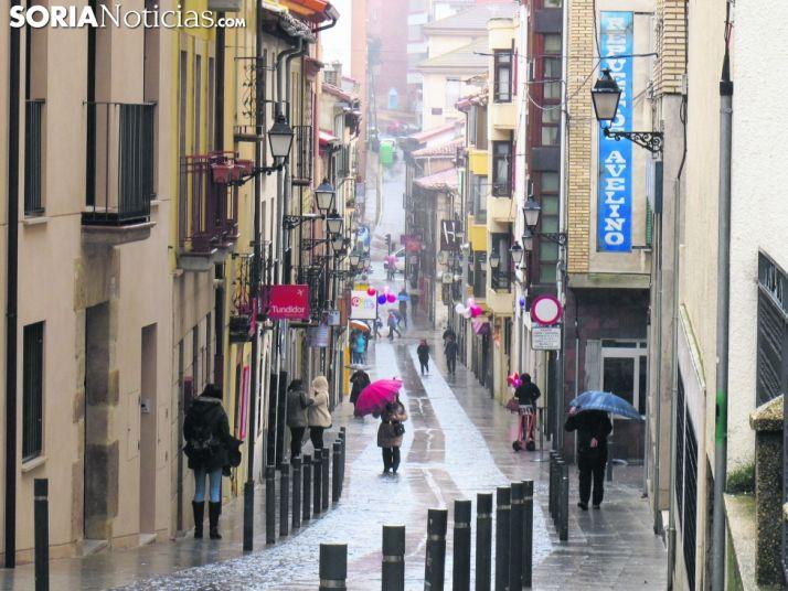 Día lluvioso en Soria.