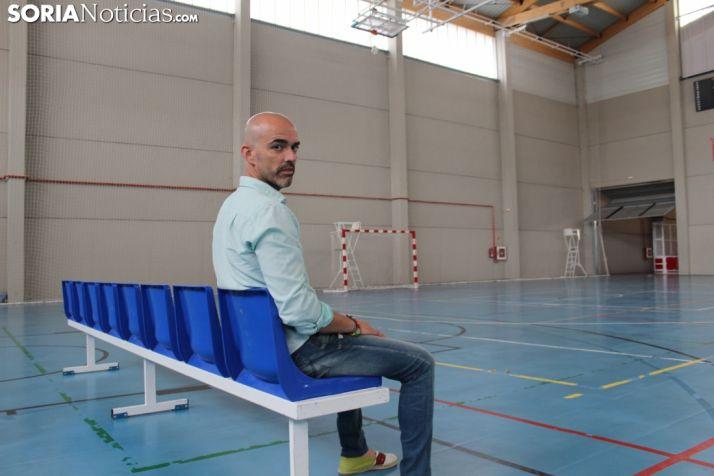 Daniel Bandrés, en el Polideportivo San Andrés.