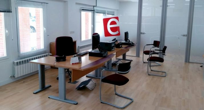 Interior de la oficina de empleo burgense.