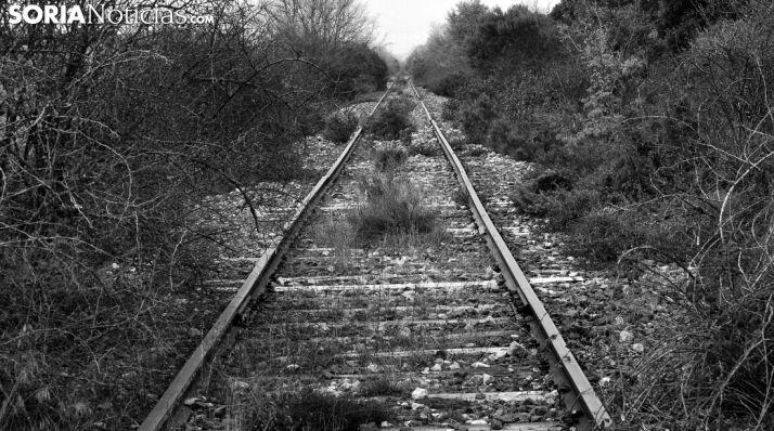 La vía férrea en las cercanías de Aldealpozo. /SN