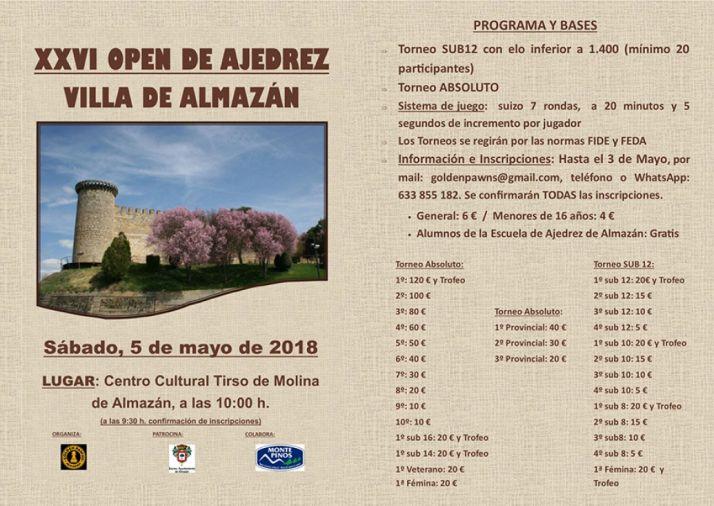 Foto 1 - Almazán celebra el sábado su XXVI Open de ajedrez Villa de Almazán