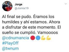 Twitter y el Numancia.