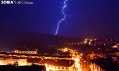 Imagen de la tormenta de esta noche. /SN