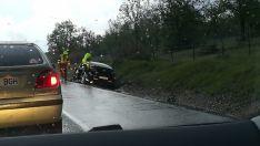 Foto 4 - AMPLIACIÓN. Dos heridos graves y tres leves en un accidente en Valonsadero