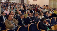 Una imagen de la asamblea de la cooperativa de crédito soriana. /SN