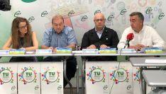 Isabel Madruga (responsable del sector autonómico de Educación), Carlos Hernando (presidente autonómico de CSIF Castilla y León), Juan Carlos Gutiérrez (responsable del sector autonómico de Sanidad) y Mariano Prieto (responsable del sector autonómico de A