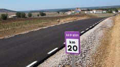 Imagen de la carretera SO-P-3001 en Almarail. /almarail.com