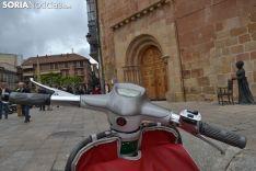 Una imagen de la llegada de las motocicletas a la plaza Mayor de la capital. /SN