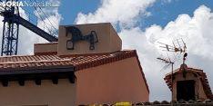 El caballisto de Soria, en los tejados. SGC