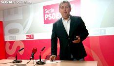 Javier Antón este lunes en la sede de los socialistas sorianos. /SN